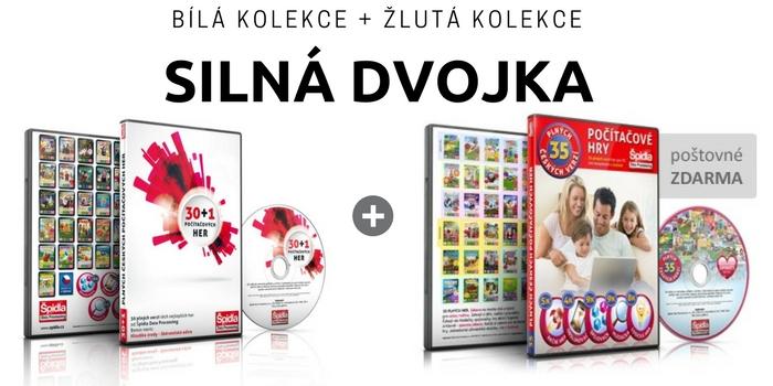 Zvýhodněné kolekce her na DVD - BÍLÁ KOLEKCE + ŽLUTÁ KOLEKCE