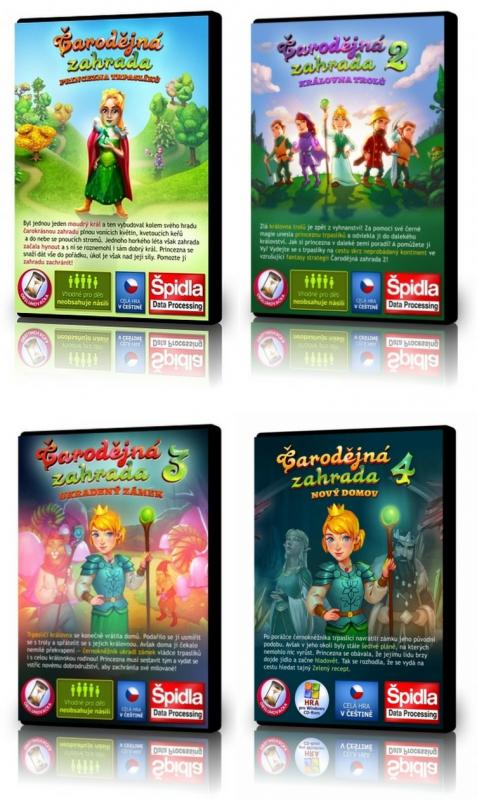 Hledačky - Kompletní herní série Čarodějná zahrada 1 * 2 * 3 *4